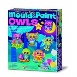 Juego Mould & paint Glow Owls