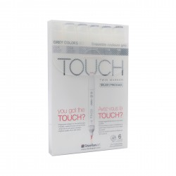 Marcadores Touch Twin Brush...